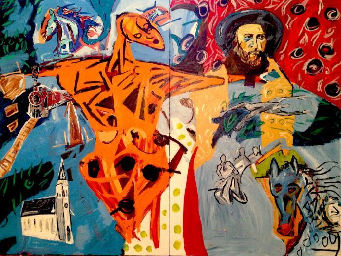Gabriel Dumont êkwa mîna osâwâw-piyêsiw (Gabriel Dumont and the orange thunderbird)