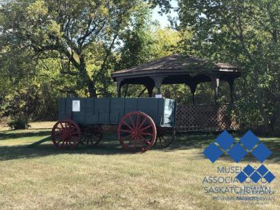 Cart and Gazebo at Seager Wheeler National Historical Farm