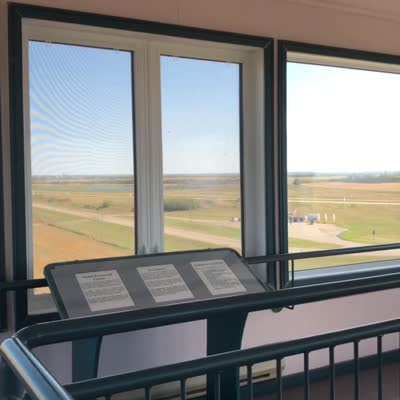 View from the Duck Lake Regional Interpretive Centre