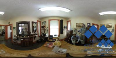 Train Station office at Waldheim Museum