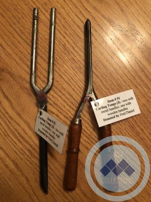 Curling tongs - metal handle