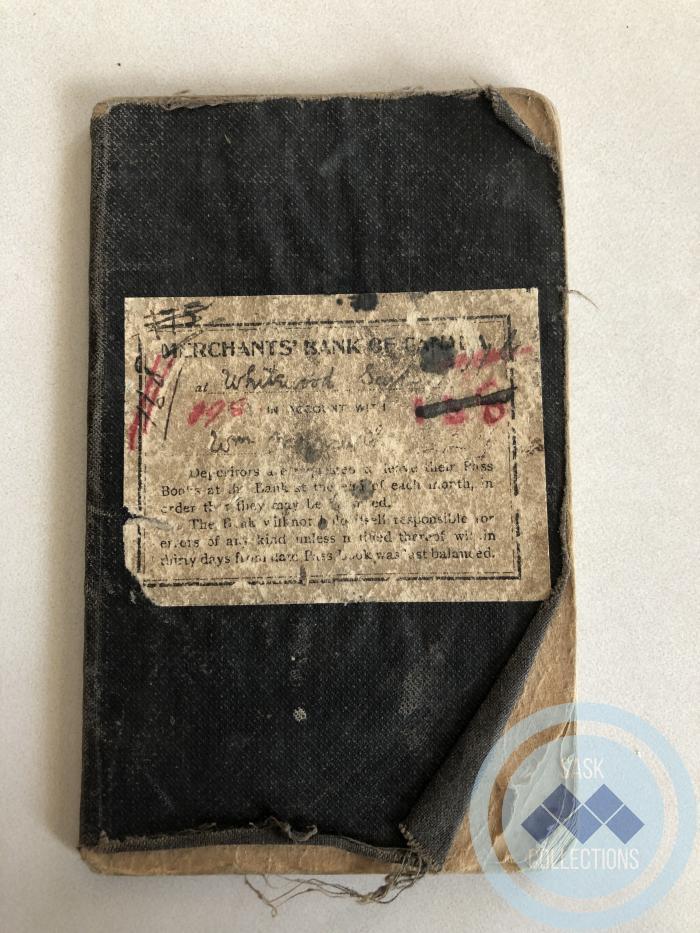 Passbook - Merchant's Bank - Wm. Hoggarth