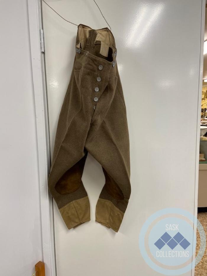 Military slacks worn by R. A. Nicol in World War 2.